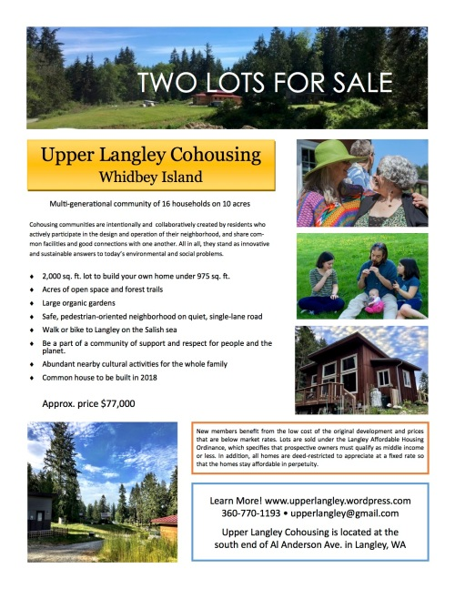 Lots for sale flyer August2017